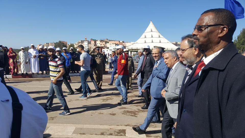 مراسيم حفل افتتاح القنطرة الجديدة الرابطة بين مدينتي انزكان و ايت ملول
